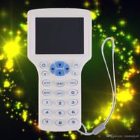 lector inteligente al por mayor-Blanco 9 Copia de frecuencia Cifrado NFC Tarjeta inteligente RFID Copiadora ID / IC Reader Reader