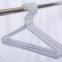 Wholesale dress plastics online - Acrylic Beads Hanger Women Clothing Skirts Dress Display Lady Clothes Crystal Hangers Clothing Skirts Dress Display rack KKA6927