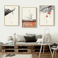 ingrosso tela di pittura moderna giapponese-Stile giapponese Wall Art Canvas Painting Festival Murale Poesia antica Art Retro Poster da parete per soggiorno Modern Home Decor