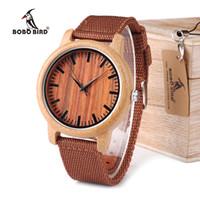 erkekler için bambu hediyeleri toptan satış-BOBO KUŞ WD10 Mens lüks Üst Marka Tasarım İzle Erkekler Ahşap saatı Tasarımcı Lüks Bambu İzle Hediye Kutusu OEM Kabul Saatler