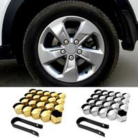 Wholesale wheels screw car resale online - Wheel Screw Protection Cap Auto Car Silicone Wheel Lug Nut Screw Bolt Cover Tyre Dust Cap Protective