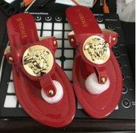 ingrosso casual scarpe estive marche-Nuovo 2017 Estate Stile Scarpe Sandali Delle Donne di Modo di Marca Sandali Infradito di Alta Qualità SexyBNYHY Pantofole Casual Solid Shoe Plus Size 6-10