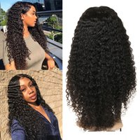 Wholesale jerry lace wig resale online - Full Lace Human Hair Wigs Jerry Curly Brazilian Human Hair Wigs For Women Black Pre Plucked
