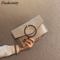 Wholesale party envelope purse for sale - Group buy Znakomity Vintage Clutch Purse Evening Bags Clutches Ring PU Leather Party Bags Female Small Ladies Messenger Envelope