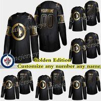 Wholesale ice hockey winnipeg resale online - Winnipeg Jets Golden Edition Patrik Laine Blake Wheeler Byfuglien Scheifele Customize any number any name hockey jerseys