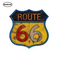 autos route 66 großhandel-Großhandel 20 teile / los Auto Styling Route 66 Selbstklebende Vinyl Aufkleber Auto Aufkleber Zubehör 13 cm x 9,3 cm