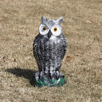 Wholesale statues home resale online - Owl Statue Pe Outdoor Scare Rats Birds Simulated Animal Hunting Baits For Home Desk Garden Decor Ornament C19041702