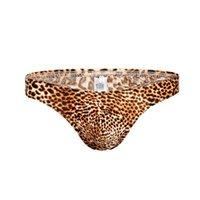 ingrosso più la biancheria intima del leopardo di formato-# B205 All'ingrosso 3 pz Plus Size XXXL degli uomini sexy Leopard intimo sacchetto di seta del ghiaccio perizoma t-stringhe g-stringhe t-back spedizione gratuita