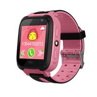 telefon parçaları toptan satış-Çocuk telefon İzle Q9 kart dokunmatik GPS konum izleme yardım için Tek tıklayın çağrı İşlevli akıllı izle