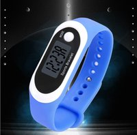 Wholesale calorie walking pedometer for sale - Group buy Stopwatch Run Step Bracelet Pedometer Watches Calorie Counter Digital men s watch LCD Watch Walking Distance Sport Unisex