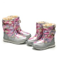 Wholesale russian snow boots for sale - Group buy Size boots for kids PU leather Children s boots Russian winter snow adult men women waterproof Rubber