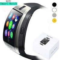ingrosso orologi da polso digitali-Smart Watch Q18 digitale da polso con uomini Bluetooth Electronics SIM card Sport Smartwatch fotocamera per iPhone Android Phone
