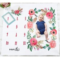 Wholesale baby blankets resale online - Ins Baby Girl Boy Photography Blanket Boutique store supplies Floral Newborn Photography Mat Months Photo Blankets Accessories