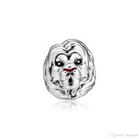 simba aslanı toptan satış-2019 Orijinal 925 Ayar Gümüş Takı charm Kral Aslan Simba Boncuk Kadınlar Yapımı için Pandora Bilezikler Kolye Uyar