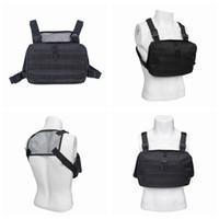 Wholesale waterproof outdoor vest resale online - Waterproof Tactical Vest Knapsack D Oxford Cloth Chest Bag Anti Wear Sport Outdoor Men Black Bags ZZA691