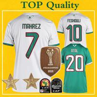 фегули джерси оптовых-Майо Algerie 2 Etoiles Алжир футбол Джерси две звезды 2019 Mahrez BOUNEDJAH Feghouli Майо-де-футовый ALGERIE Футбол Рубашка