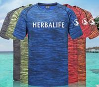 ingrosso magliette veloci secche-T-shirt Herbalife Man Round Collar Manica corta Camouflage Couple Style Sport Fitness Danza quadrata Quick Dry T-shirt