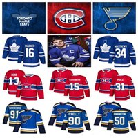 Wholesale domi jersey resale online - 2019 Toronto Maple Leafs Hockey Jerseys Montreal Canadiens Tarasenko O Reilly Nylander Max Domi Price St Louis Blues Jerseys