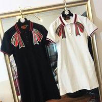 direkte krawatte großhandel-Direct sales19 Sommerkleid Freizeit Revers Polo Stickerei Krawatte dünnes Kleid