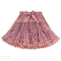 tutu mädchen rock multi farbe großhandel-Prinzessin Bow Tutu-Rock-Baby Stern-Druck-Spitze-Tulle-Röcke Rüschen Multi Color-Feiertags-Party Kleidung High Quality