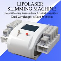 Wholesale laser liposuction machines resale online - Professional weight loss machine Dual Wavelength nm nm laser liposuction machines double chin Fat Reduction lipolaser body contouring