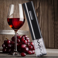 Wholesale wine opener foil cutter for sale - Group buy Automatic Wine Bottle Opener Multi Color Electric Wine Openers Automatic Corkscrew Openers With Foil Cutter Kitchen Tools BH3596 TQQ