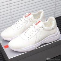spor ayakkabıları kumaş toptan satış-moda Mens20ayakkabı tasarımcısı Kumaş gündelik ayakkabı 20ss sneaker eğitmen siyah deri spor ayakkabıları fırçalanmışPrada Sport kaliteli ayakkabı