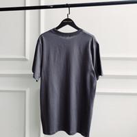 yarasa tişörtü toptan satış-Tişörtlü Katı Mens Yaz Elbise Tişört Sezon 5. Batı En İyi Kalite Pamuk Gri Tişört Sezon 5