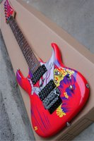Wholesale guitar for sale - Red surf pattern string Feluo Yinde rose vibrato electric guitar custom