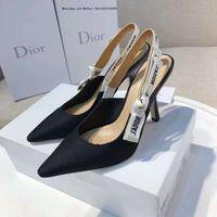 nuevos tacones de verano al por mayor-Zapatos de vestir para mujer Verano 2019 Nuevo Remache Tacones altos Puntiagudos Hebilla Única Oficina Profesional Envío gratis