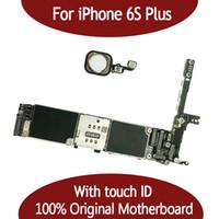 iphone 16g großhandel-Für iphone 6S plus 16G 64G Motherboard mit Touch-ID-Fingerabdruck-Original für iphonbe 6S Plus-Logikplatine durch freies Verschiffen freigegeben