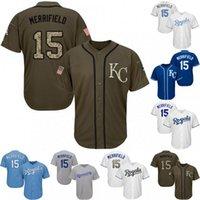 beyzbol mayo 15 toptan satış-Gençlik 15 Whit Merrifield Kansas City Jersey 100% Dikişli Whit Merrifield Serin Baz Royals Beyzbol Formalar S-XL Ücretsiz Kargo