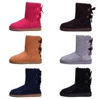 uzun boylu yeni ayakkabılar toptan satış-Moda Mini Bailey Boot Ucuz Kış Ayakkabı Kadın Kar Boots Klasik Siyah Pembe Erkek Dış Mekan Yeni 2019 Tall Men Tasarımcı Sneakers Zapatos