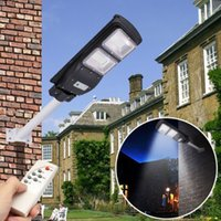 lámpara solar humana al por mayor-30W / 60 / 90W Solar Led Lámpara de calle Impermeable Al aire libre Paisaje Jardín Luz humana Detección Led Solar luz de pared LED Luz de calle LLFA
