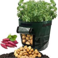 bio-pflanzer großhandel-Kartoffel, die PE-Taschen pflanzt Familie Garten Balkon Garten Töpfe aus Bio-Gemüse Kartoffeln Pflanzgefäße wachsen Tasche