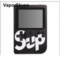 cradle entwürfe großhandel-SUP Mini Handheld-Spielekonsole Retro tragbare Videospielkonsole kann 400 Spiele 8 Bit 3,0 Zoll bunte LCD Cradle Design speichern