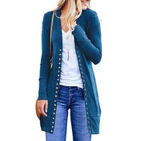 передняя шея оптовых-Women Casual O Neck Long Sleeve Rib, Solid Casual, Street, Outdoor, etc Button Front Knitwears Cardigan