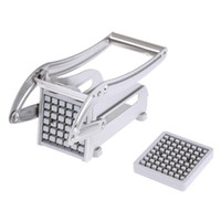Wholesale chips cutting machine resale online - Stainless Steel French Fries Cutters Potato Chips Strip Cutting Machine Maker Slicer Chopper Dicer W Blades Kitchen Gadgets