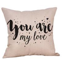 almohadas de san valentin al por mayor-Funda de cojín Happy Valentine's Day Funda de cojín cuadrado Sweet Love