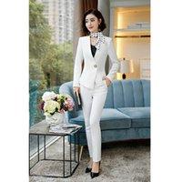 ingrosso decorazione di affari-Vestito da donna primavera e autunno nuovo business di moda occidentale decorazione corpo vestito a due pezzi (giacca + pantaloni)