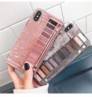 cajas de la cubierta del teléfono celular al por mayor-Nuevo teléfono celular casos de maquillaje NK caja de sombra de ojos caja del teléfono para iPhone X XR XS Max IMD teléfono de silicona contraportada para Iphone 6 7 8 Plus