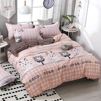 Wholesale kawaii bedding for sale - Group buy 4pcs set Kawaii Cartoon Style Bear Printing Comfortable Family Bedding Set Bed Linings Duvet Cover Bed Sheet Pillowcases