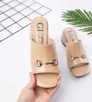 nuevos tacones de verano al por mayor-2019 verano nueva moda sandalias mujer cuero genuino 5cm tacones elegantes zapatillas