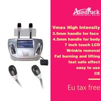 ultra face lift venda por atacado-eu tax free 3.0-4.5mm 2 sondas de tratamento SMAS Vmax 3d face lift máquina de ultra-som