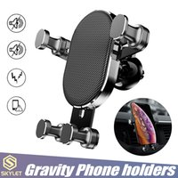 Wholesale car cellphone stands online – Universal Car Holder Air Vent Stand Mount GPS Rotation Adjustment Bracket for inch above Cellphones with Retail Box