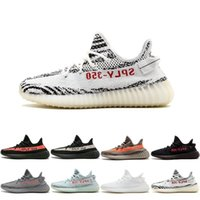 Großhandel Adidas Yeezy 350 V2 Off White Boost Sneakers Sesame V2 V1 Sneakers Blau Farbton Weiß Größe Damen Designer Schuhe Laufschuhe Für Herren