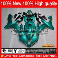 Body For YAMAHA YZF R 1 1000 CC YZF-1000 YZFR1 04 05 06 63HC.33 YZF1000 1000CC YZF R1 04-06 glossy cyan YZF-R1 2004 2005 2006 Fairings kit