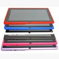 tela externa q88 venda por atacado-Q88 7 polegada Android 4.4 Allwinner A33 Tela Capacitiva Quad Core 512 MB 8 GB Câmera Dupla Tablet PC Externo com teclado X106