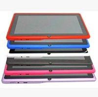 externer bildschirm q88 großhandel-Q88 7 Zoll Android 4.4 Allwinner A33 Kapazitiver Bildschirm-Quad-Core 512 MB 8 GB Dual-Kamera externer Tablet PC mit Tastatur X106