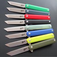 nuevo tanto cuchillo al por mayor-Nueva llegada EF65 tanto D2 blade G10 manija Táctica Caza Cuchillo plegable Multi Herramientas Pocket Survival regalo de Navidad cuchillo